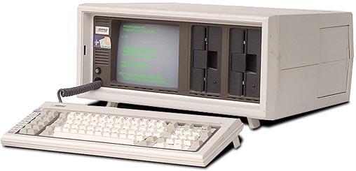 "Compaq ""portable"" computer, circa 1983."