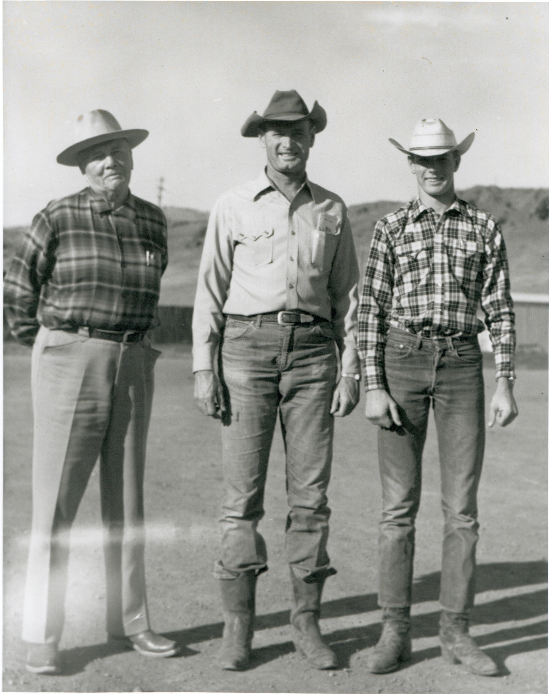 A.T. Hibbard, son Hank Hibbard, and grandson Chase Hibbard circa 1960