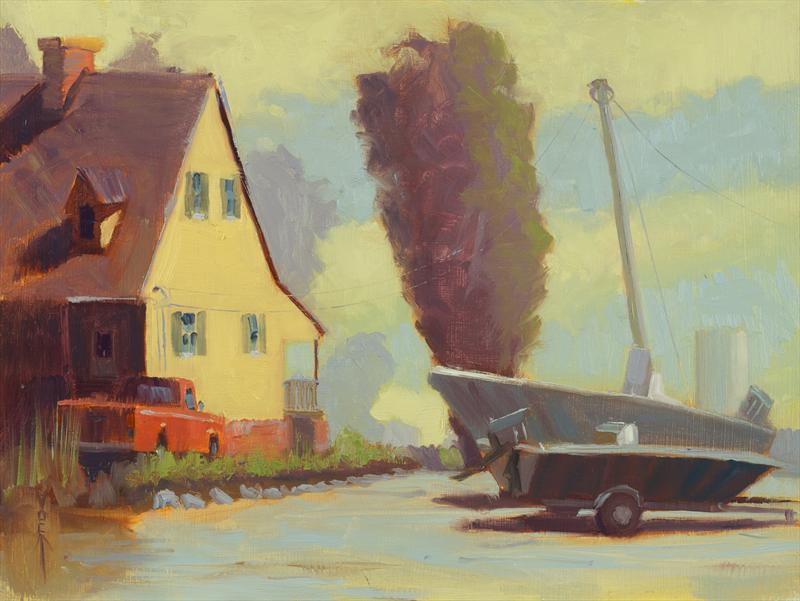 """Easton Afternoon"" 9x12 Oil on board."