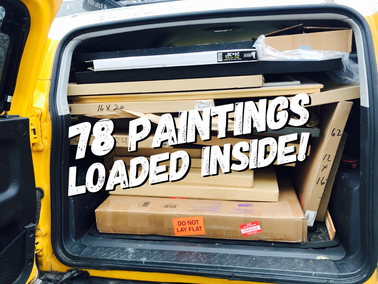 I would later discover I had 79 paintings inside. Whoops!