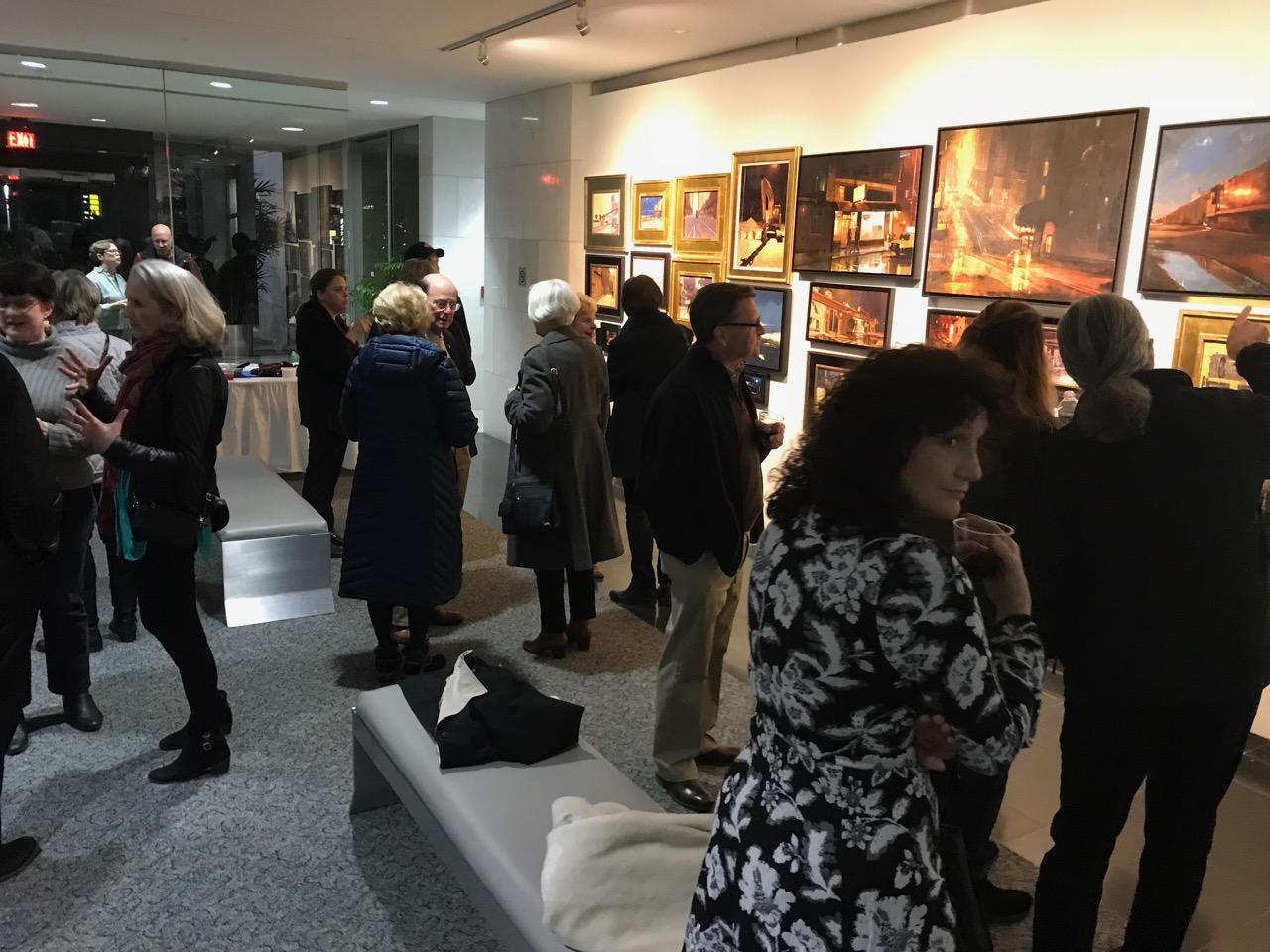 Opening reception night!