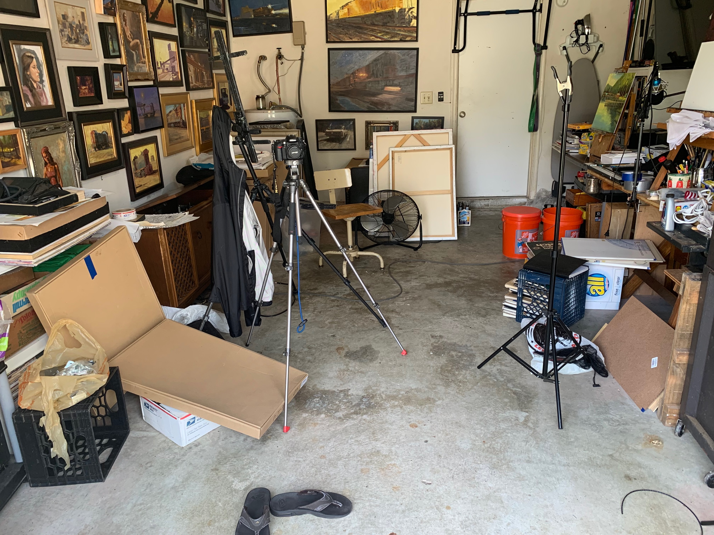This isn't even my studio at its worst. But at least I can get some work done now while cleaning out the rest of my art supplies and other crap.