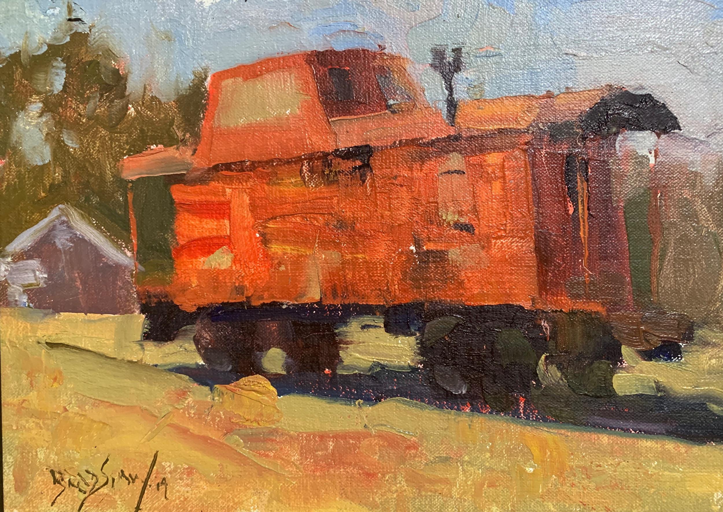 Thomas Bradshaw's caboose painting