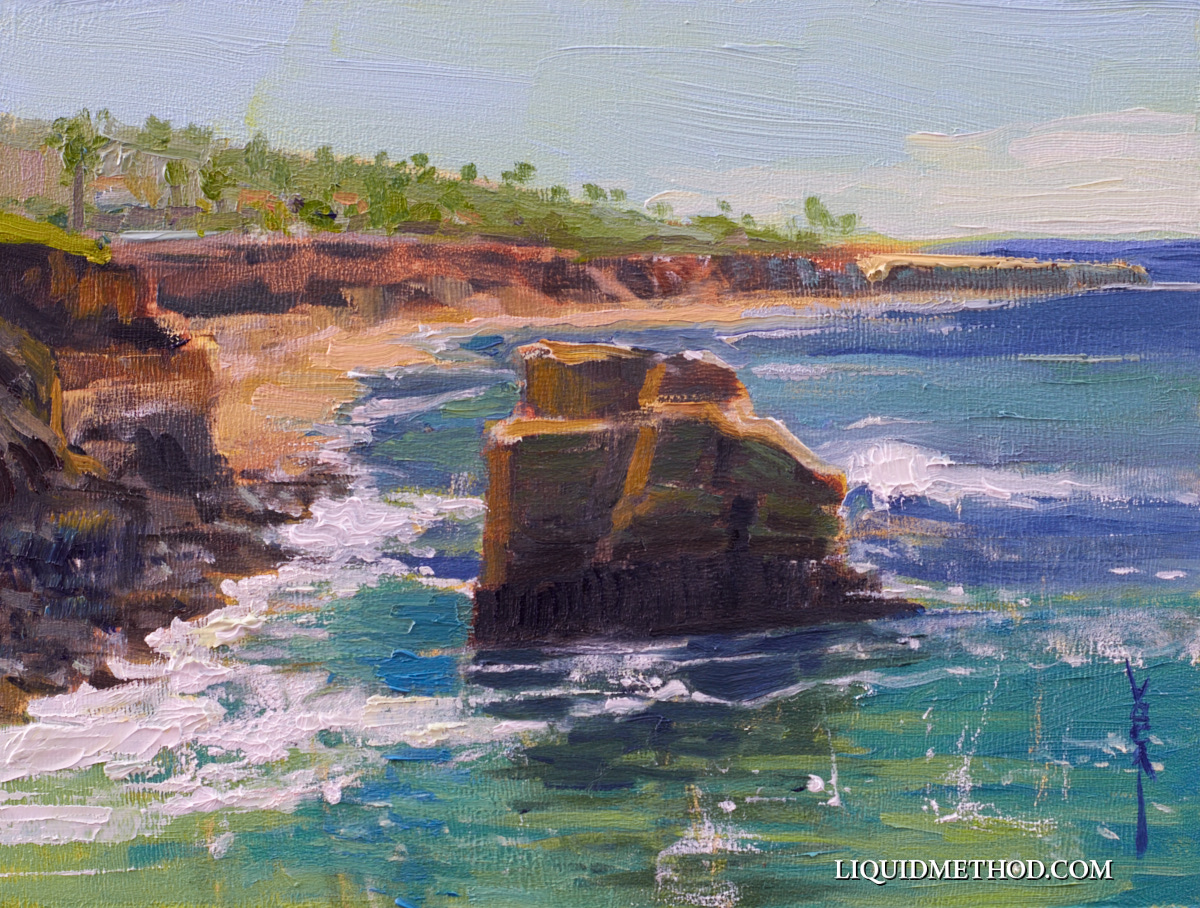Pacific View 6x8 Oil on Board.