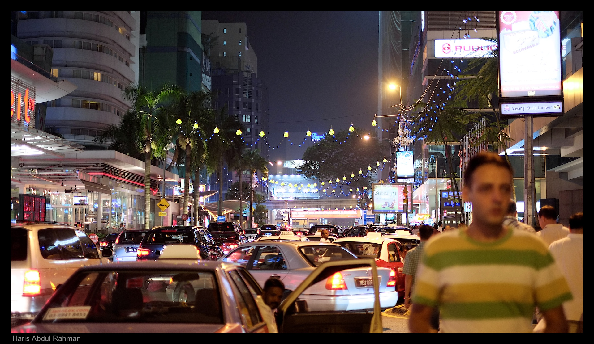 At 10 pm, the road around Bukit Bintang was still a pain to navigate
