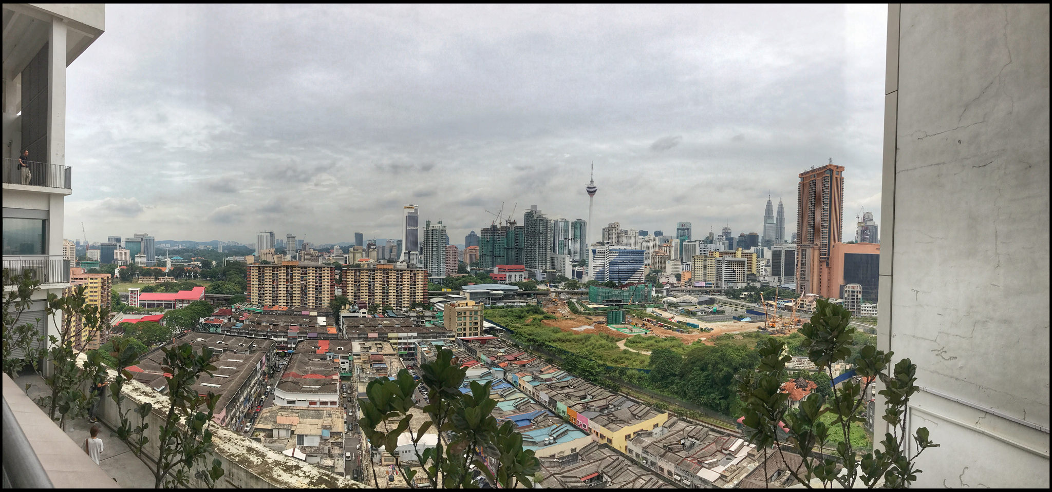 A panoramic sweep from one of the balcony