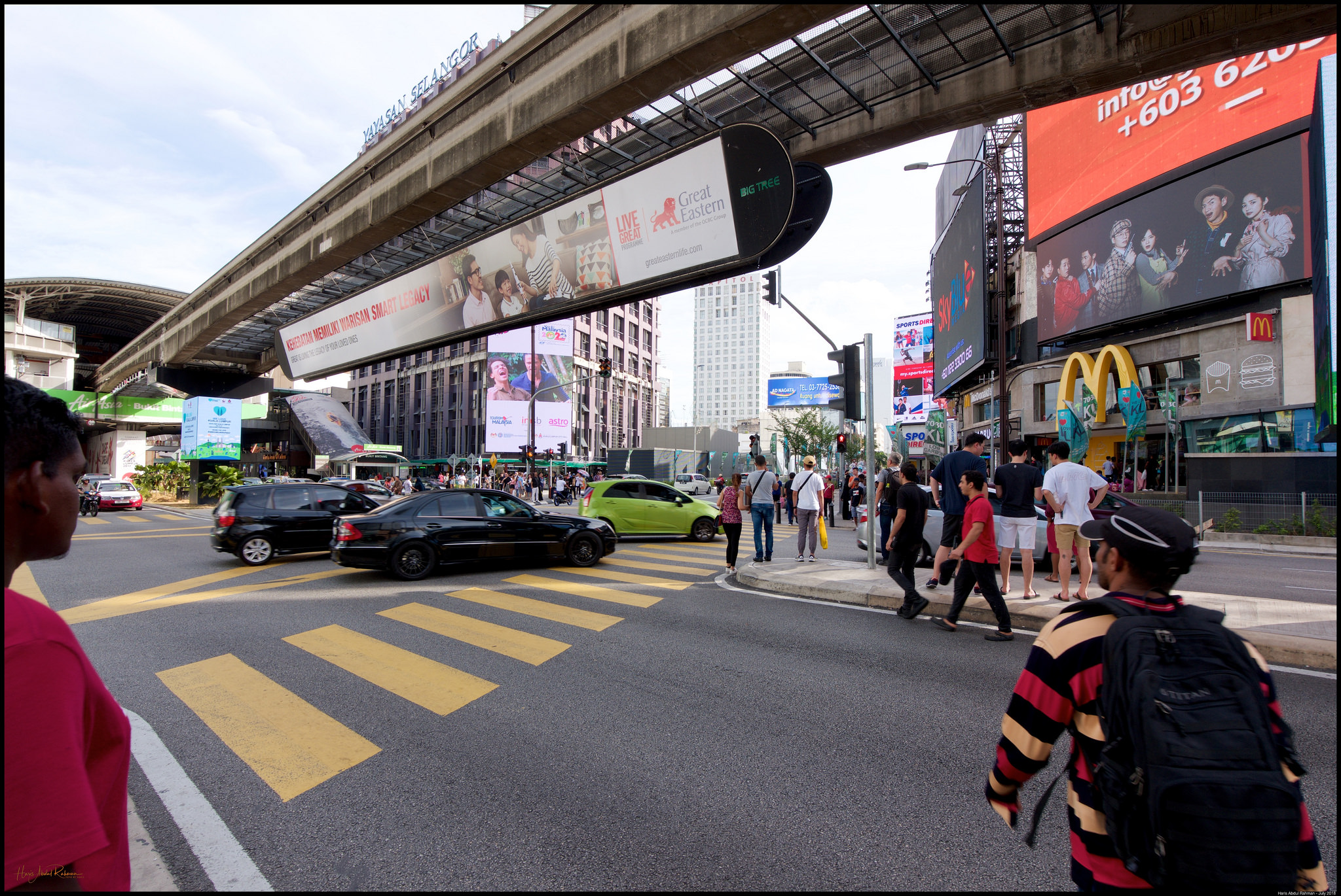 The Bukit Bintang intersection