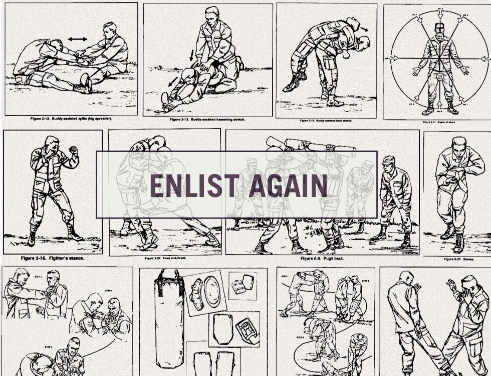 ENLIST AGAIN - Connecting veterans to free marital arts training.