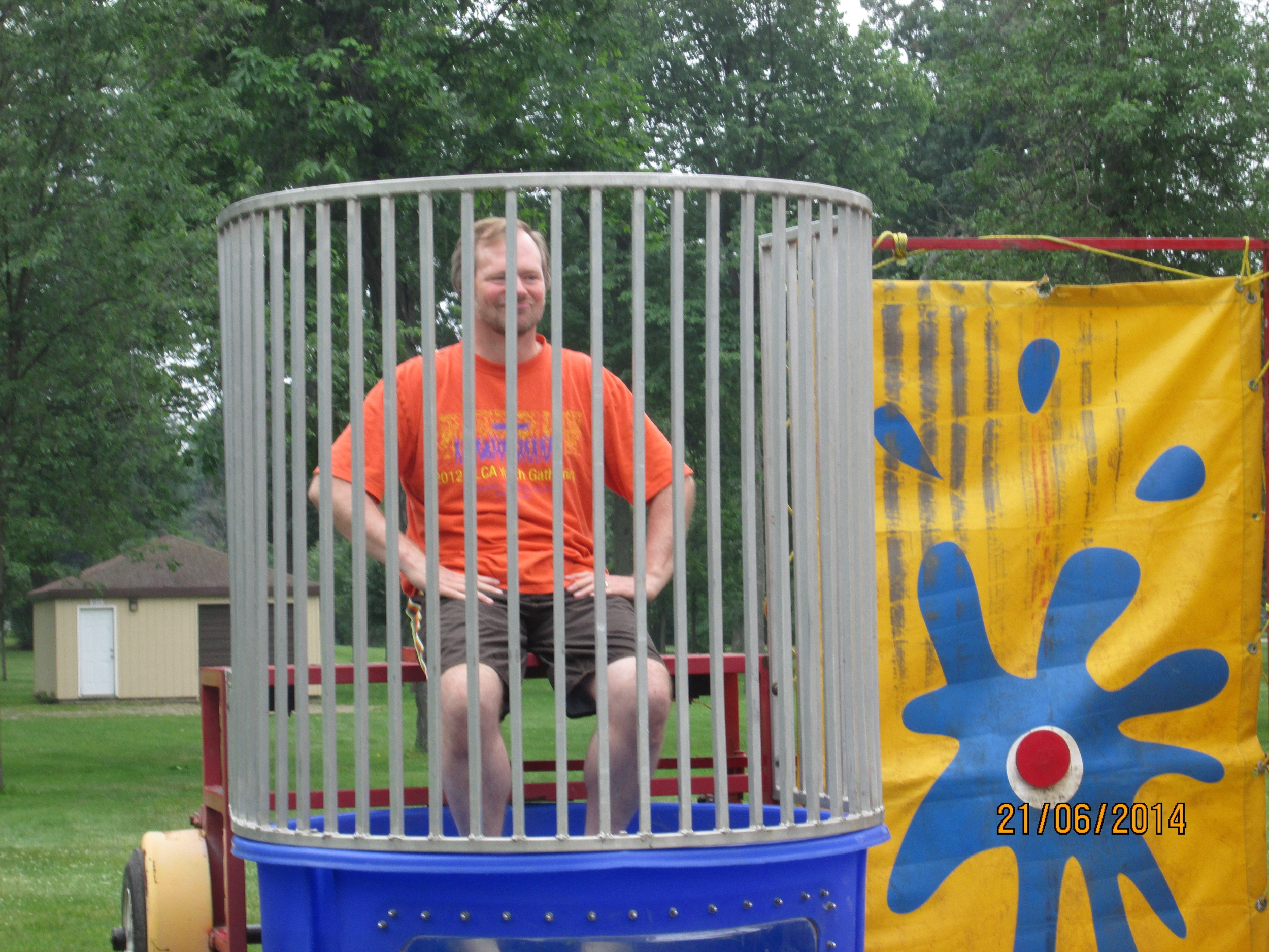 Smith Park Church Service -Pastor in Dunk Tank - 2014.JPG