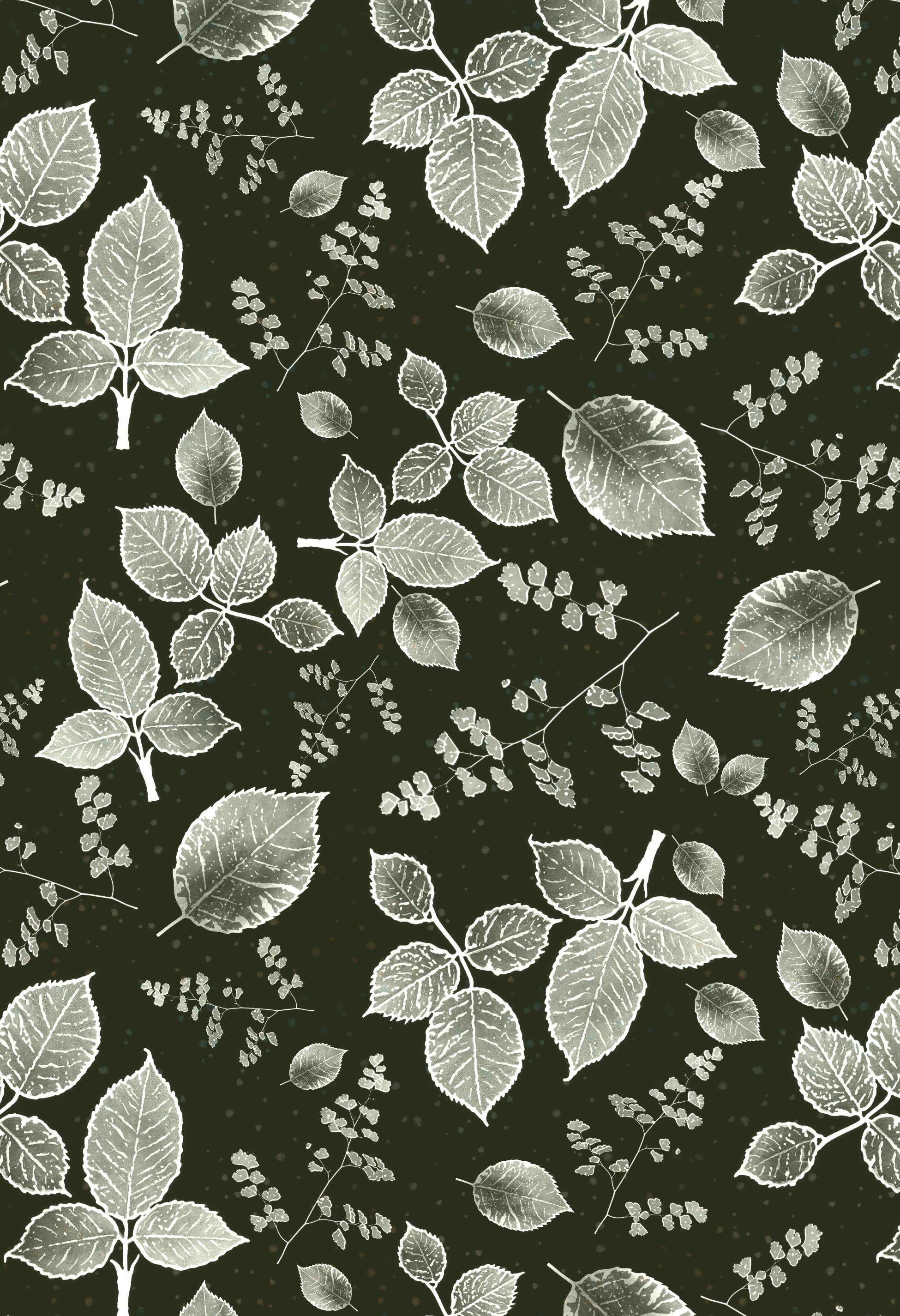 scattered rose monotone background autumn green.jpg