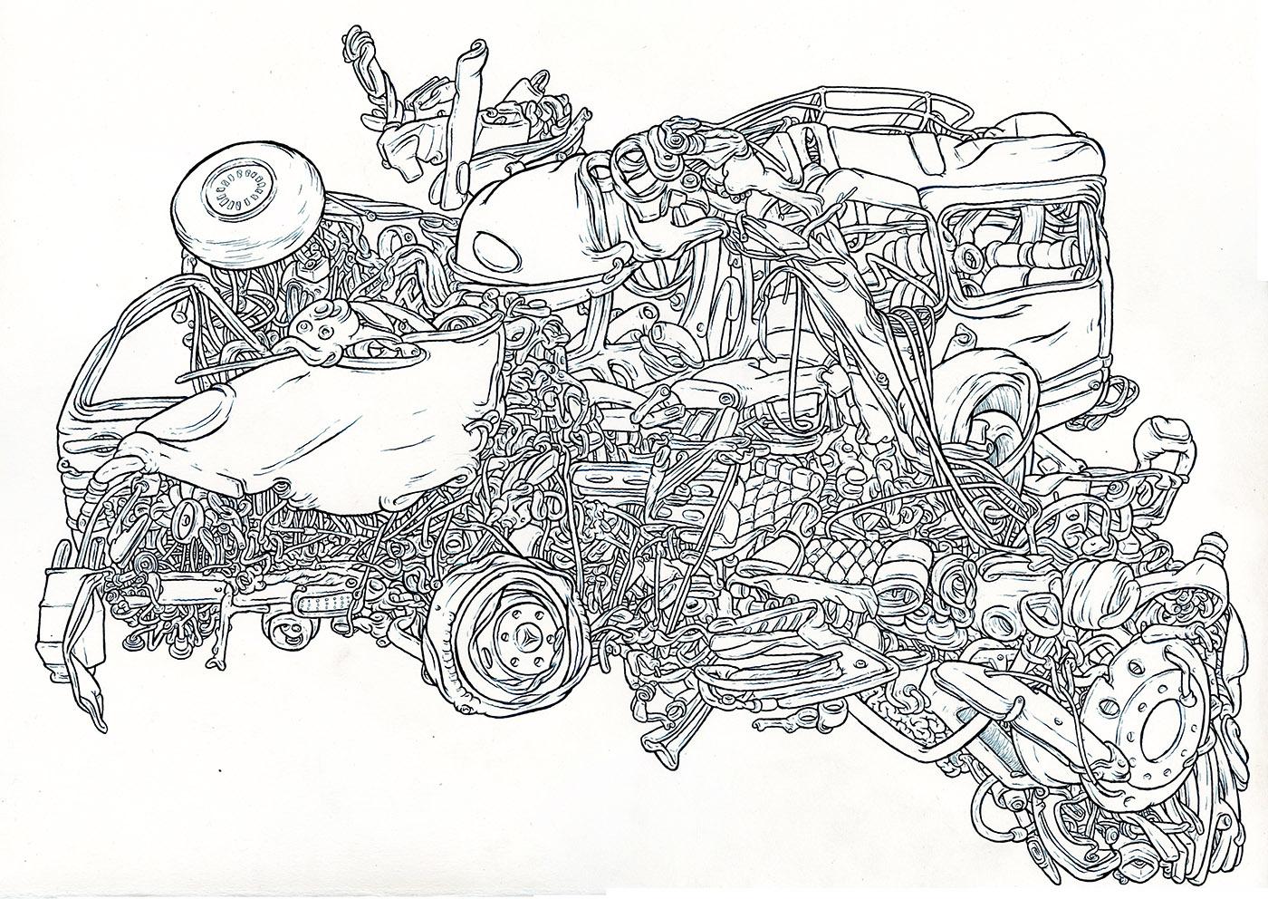 """2013 pen & ink 18"""" x 15"""""""