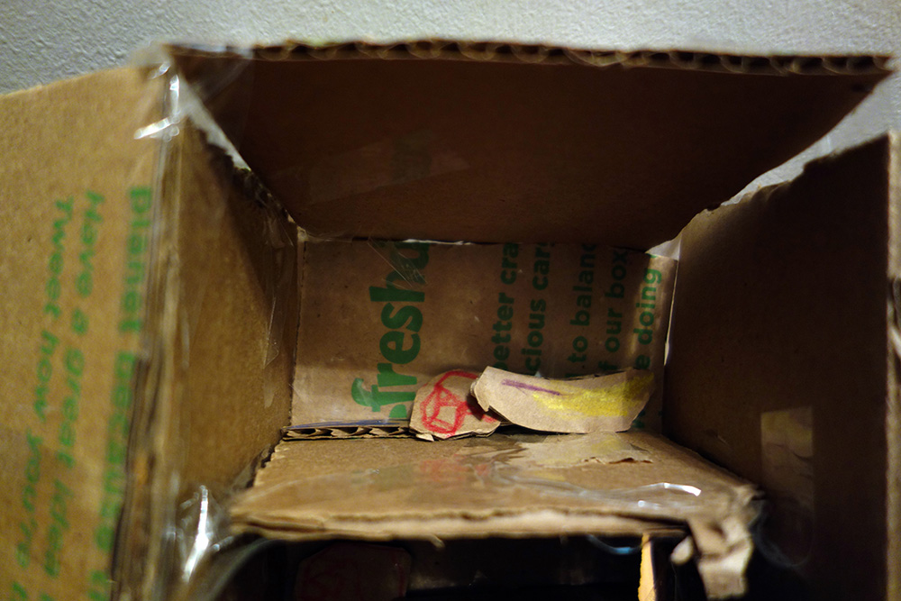 Freezer with banana
