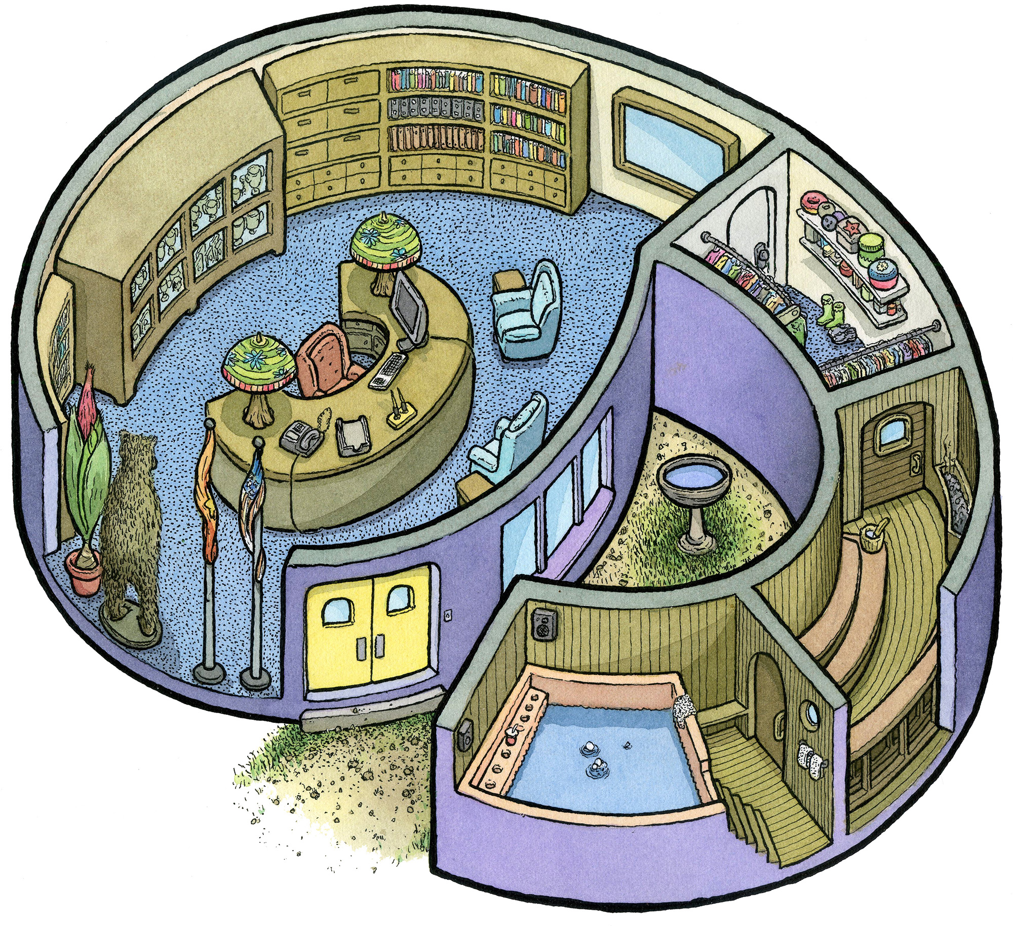9: Principal's Office/Secret Spa