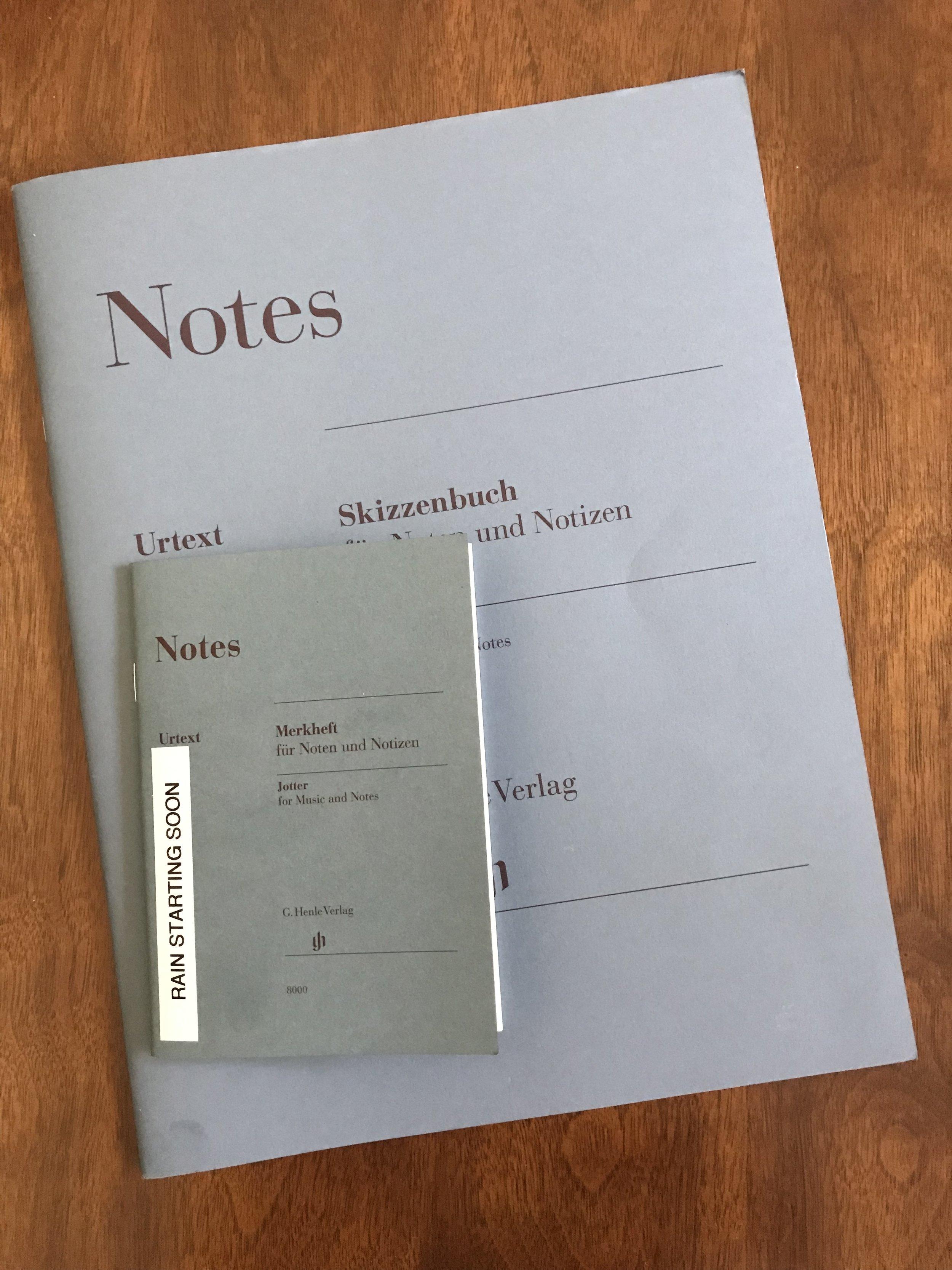 Henle Music Jotter for Notes