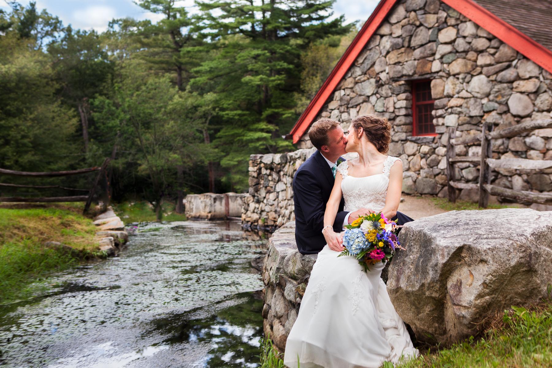 massachusetts wedding sudbury grist mill wedding