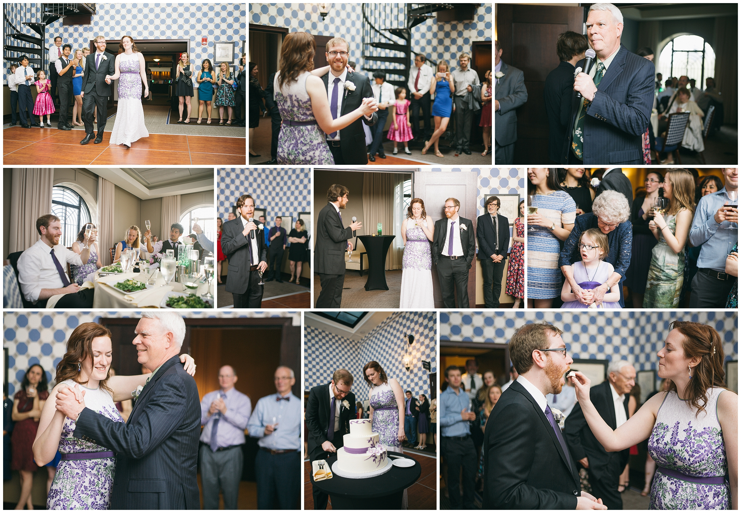 Liberty Hotel Boston Wedding Photography - Pictures from wedding reception including bride and groom's first dance, toasts as well as cake cutting. Bride feeds groom cake by Ryan Richardson Photography