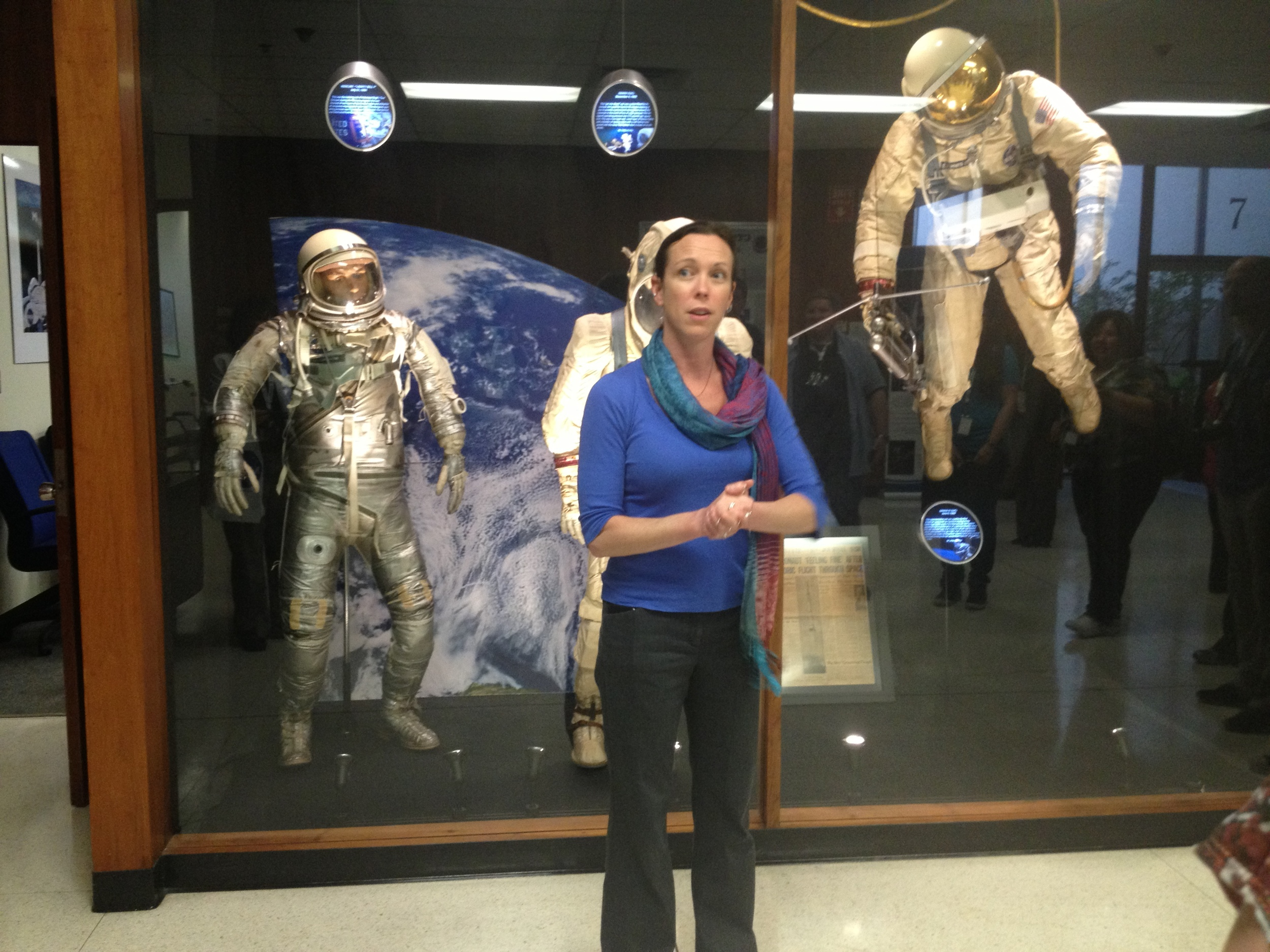 The Crew and Thermal Systems Division (CTSD) shows us the difference between space suits in the past, present, and future.