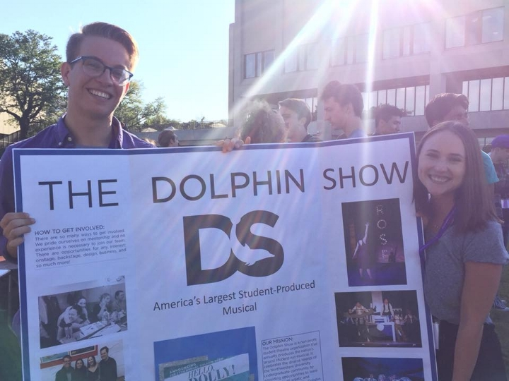 The 77th Annual Dolphin Show's Andrew Harlan & Casey Watson At the 2018 Fall Student Organization Fair