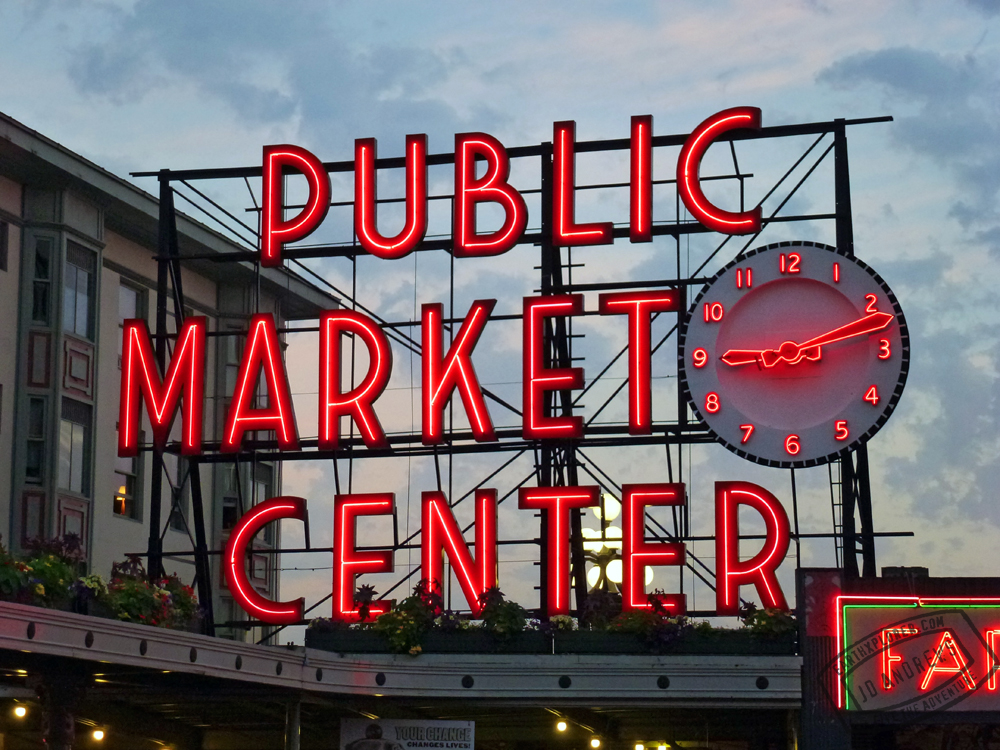 The famous Pike Place Market Sign.