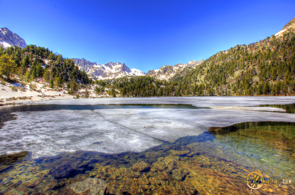 Frozen lake in the Pyrenees - Spain