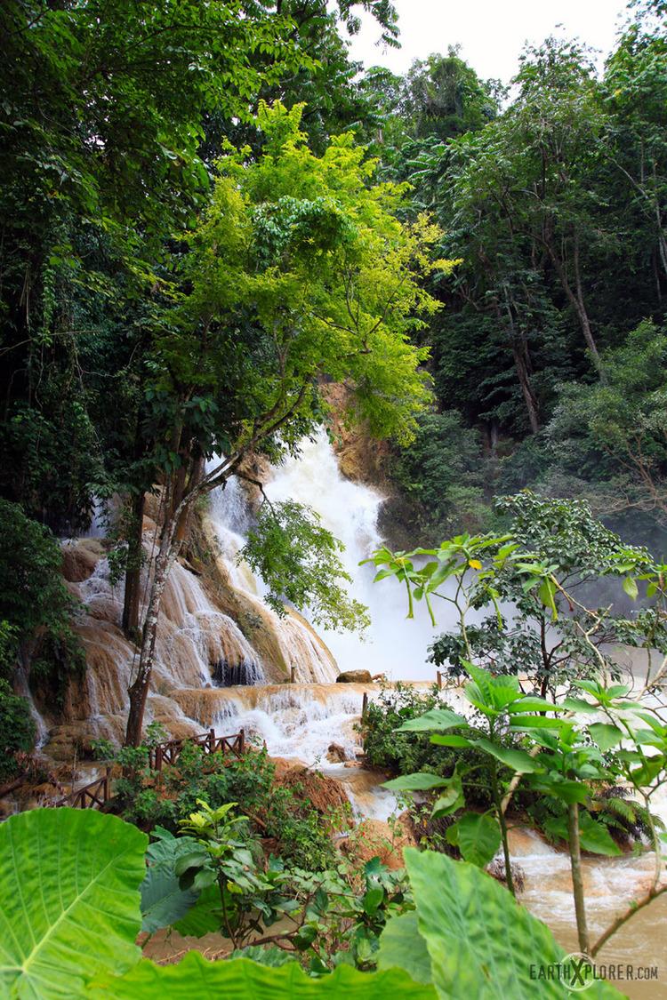 T he Tat Kuang Si Waterfall in Luang Prabang, Laos