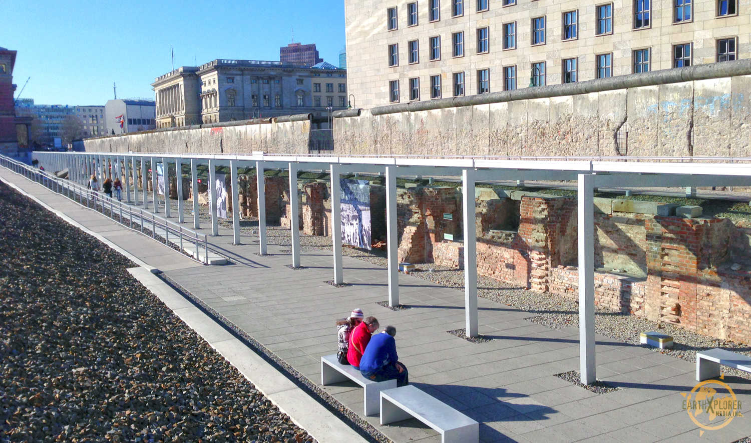 The Berlin Wall was a barrier constructed by the German Democratic Republic starting on 13 August 1961