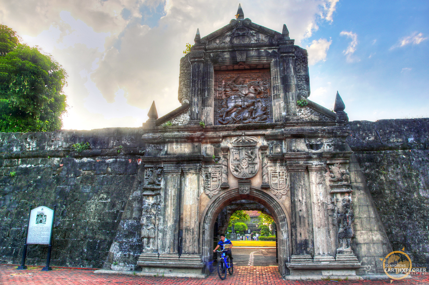 "Intramuros, which is Latin for ""within the walls"" - is the oldest district and historic core of Manila. This original fortified city was the seat of the Spanish government during the Spanish colonial period."