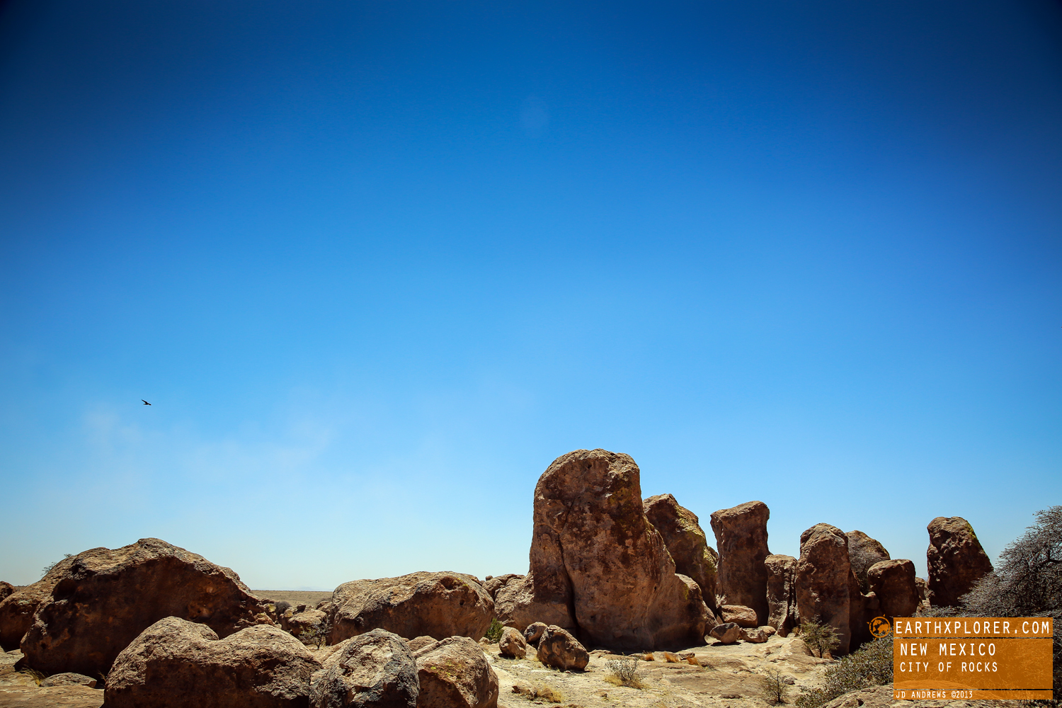 City of Rocks State Park is a state park of New Mexico. Looking like something right out of the Flintstones, it has large sculptured rock formations in many shapes & sizes rising in the air as high as 40 feet.