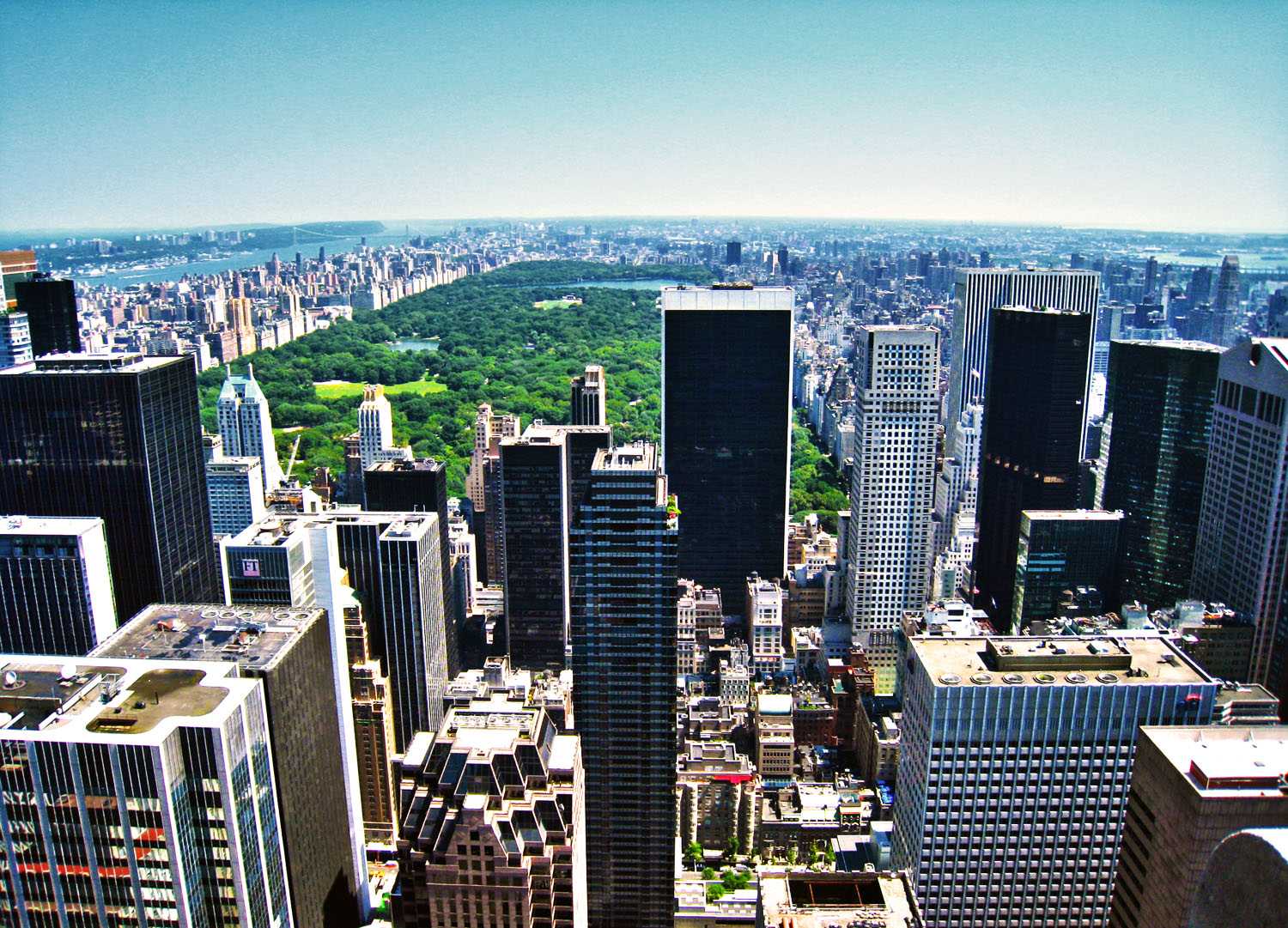View of Central Park in New York City.