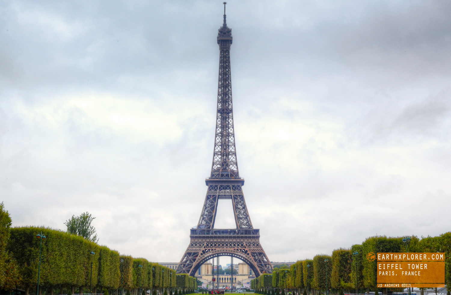 The Eiffel Tower, named after the engineer Gustave Eiffel, whose company designed & built the tower.