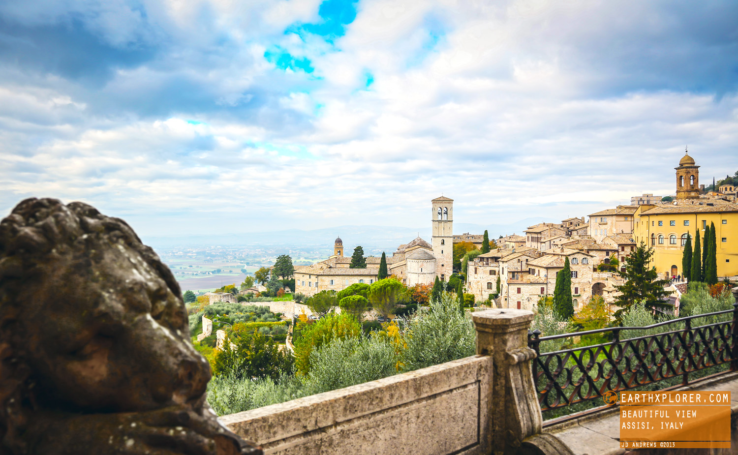 Assisi is the birthplace of St. Francis, he founded the Franciscan religious order.