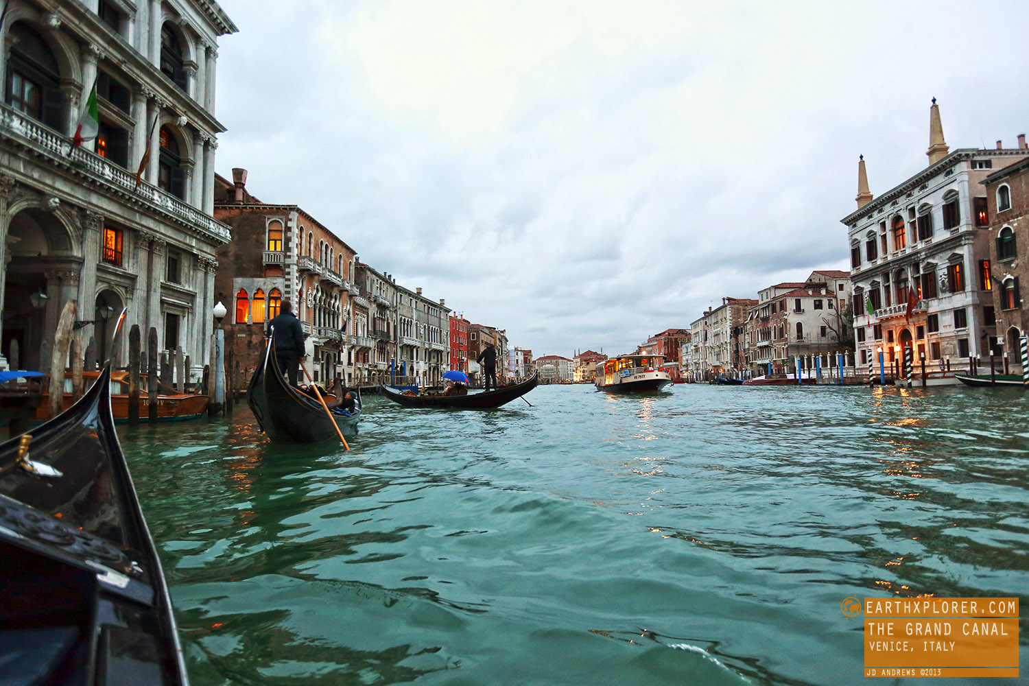 The Grand Canal  is one of the major water-traffic corridors in the city of Venice.