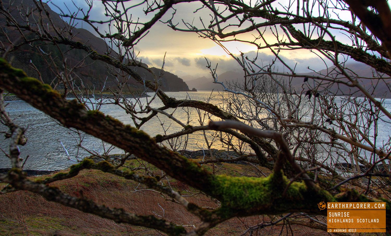 Loch Duich in the western Highlands of Scotland