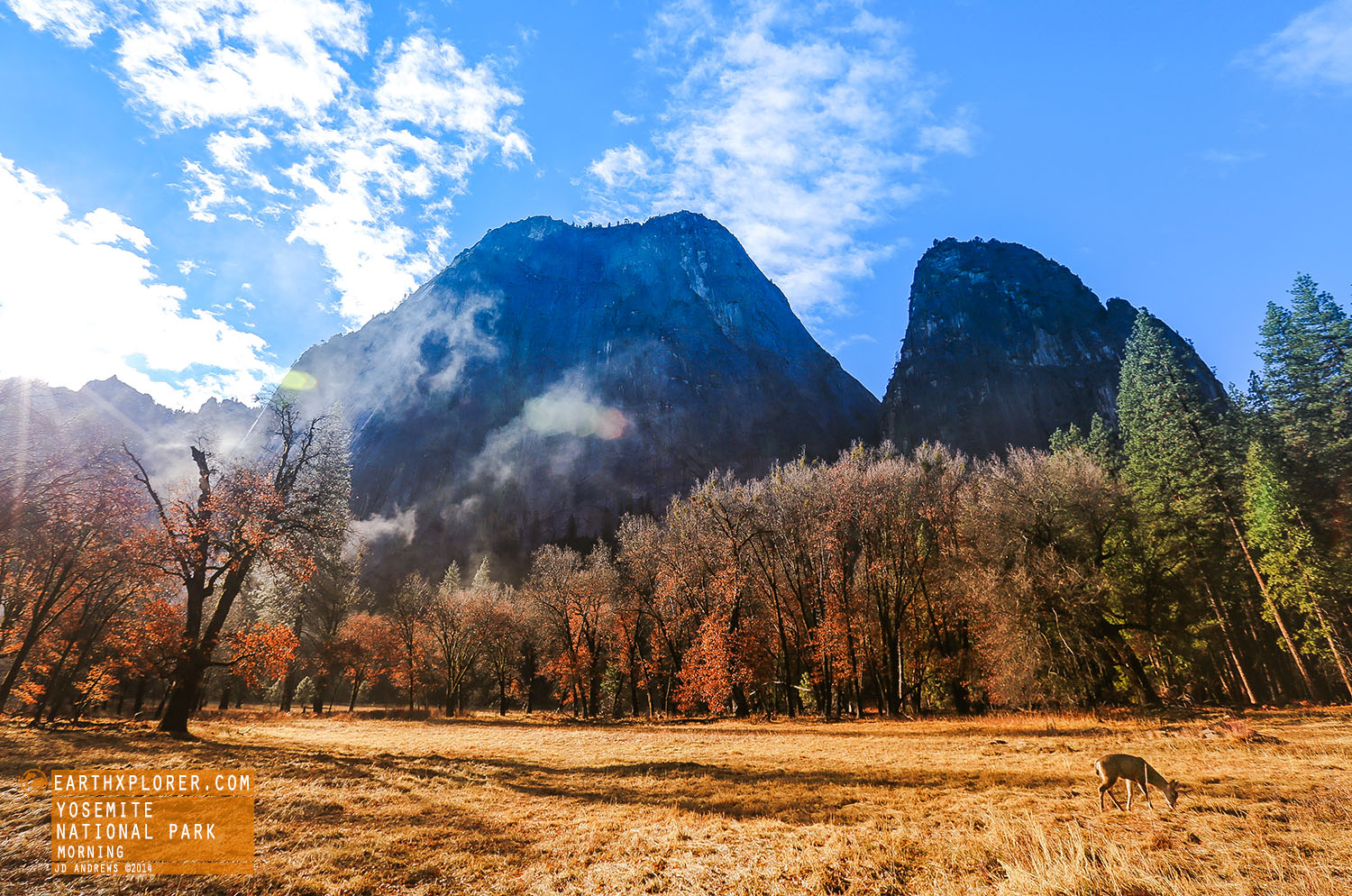 Yosemite Valley is a glacial valley in Yosemite National Park