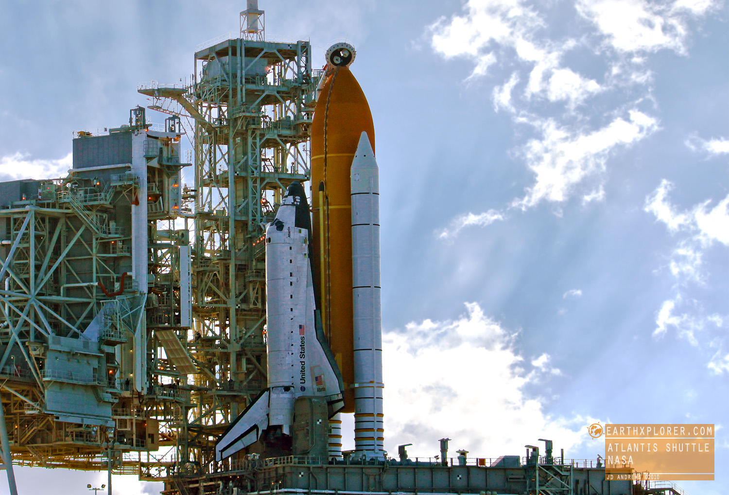 From the NASA tweet-up held at The Kennedy Space Center located in Central Florida - I had the amazing opportunity to see one of the last shuttle launches back in 2010. It was incredible!