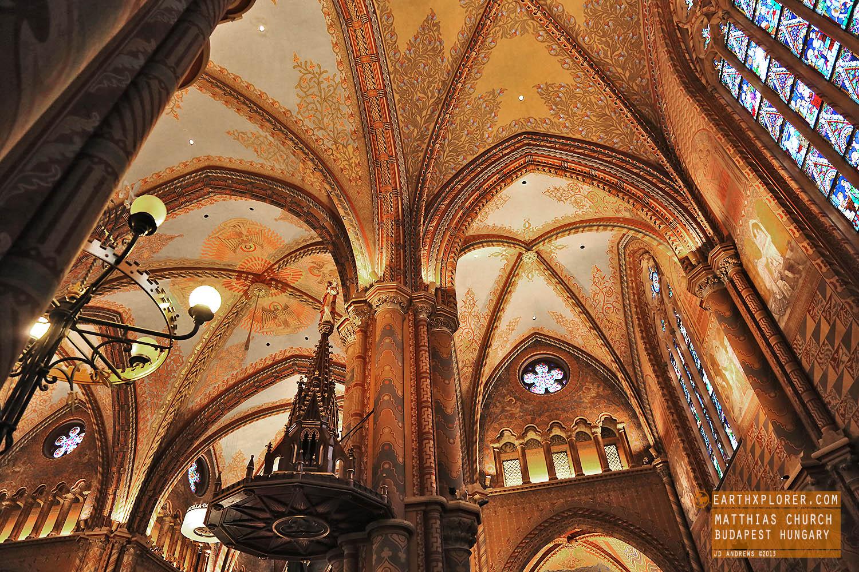 nside the Matthias Church in Budapest Hungary