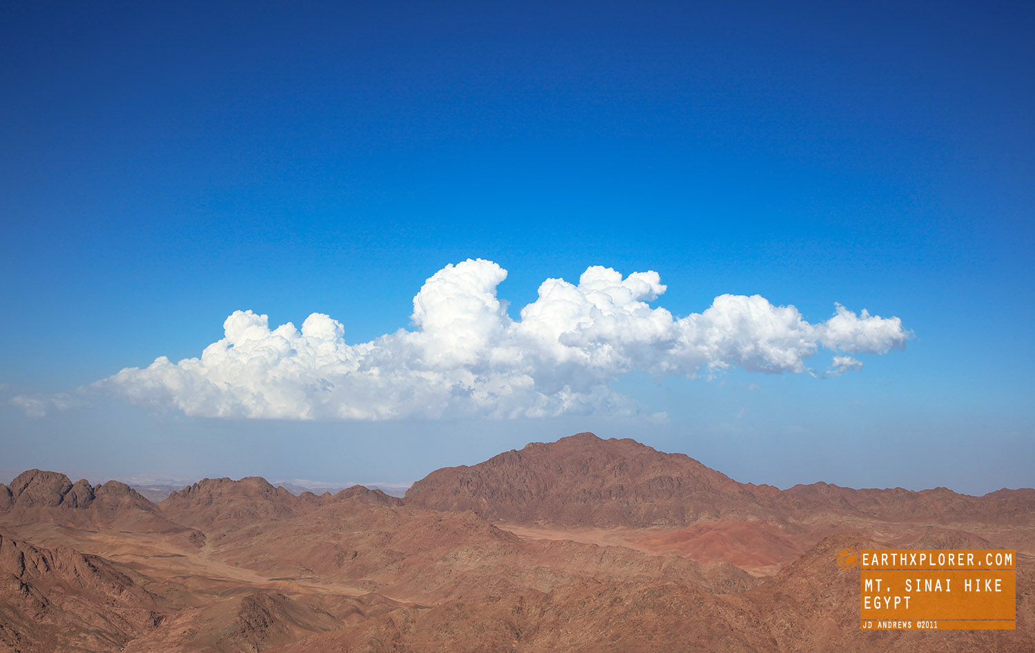 Mount Sinai is a mountain in the Sinai Peninsula of Egypt.