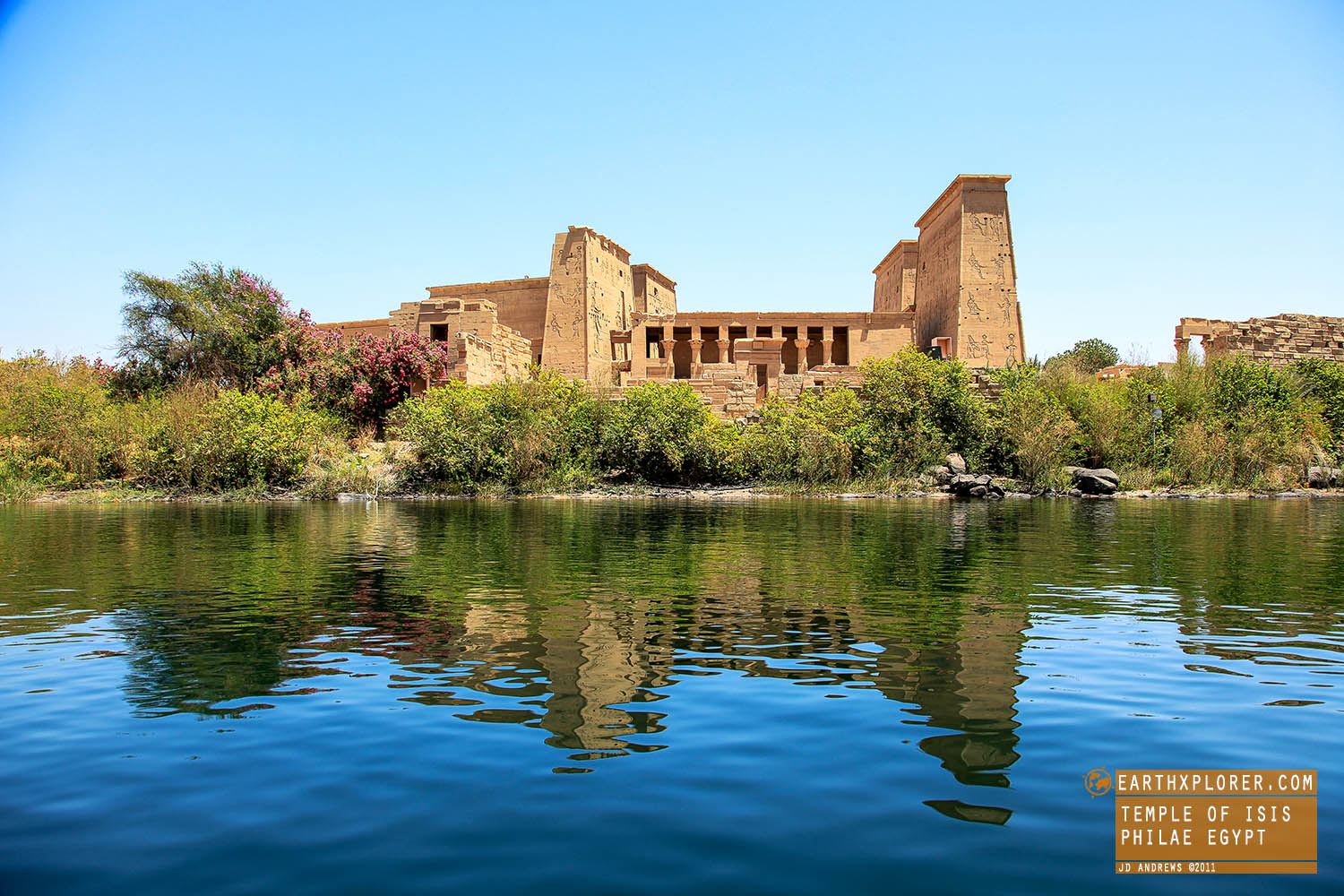 Located on Agilkia Island in Lake Nasser