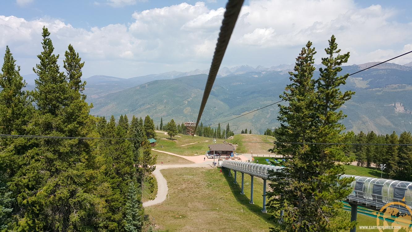 the four-line, 1,200-foot zipline
