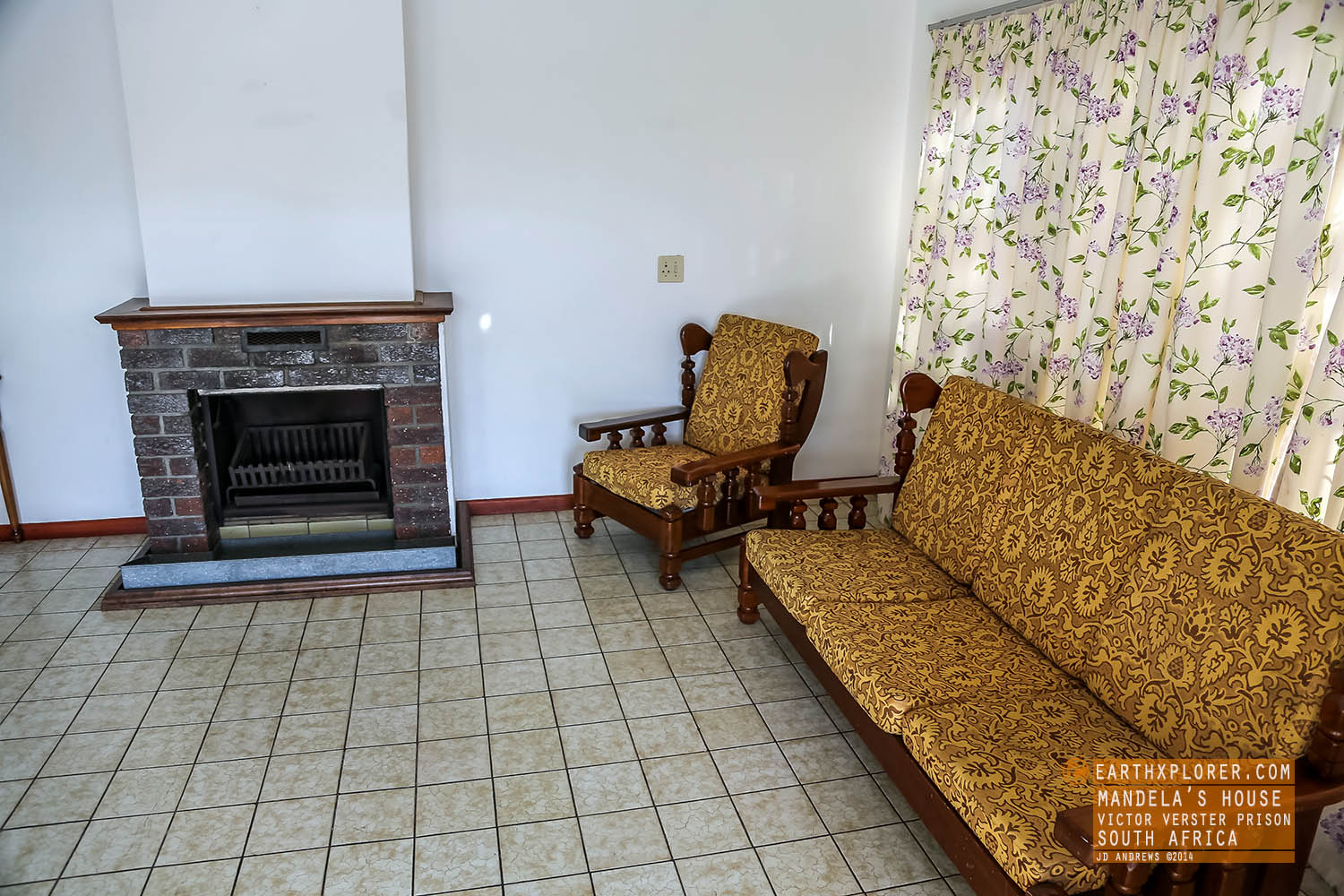 fireplace Mandelas House Victor Verster Prison South Africa.jpg