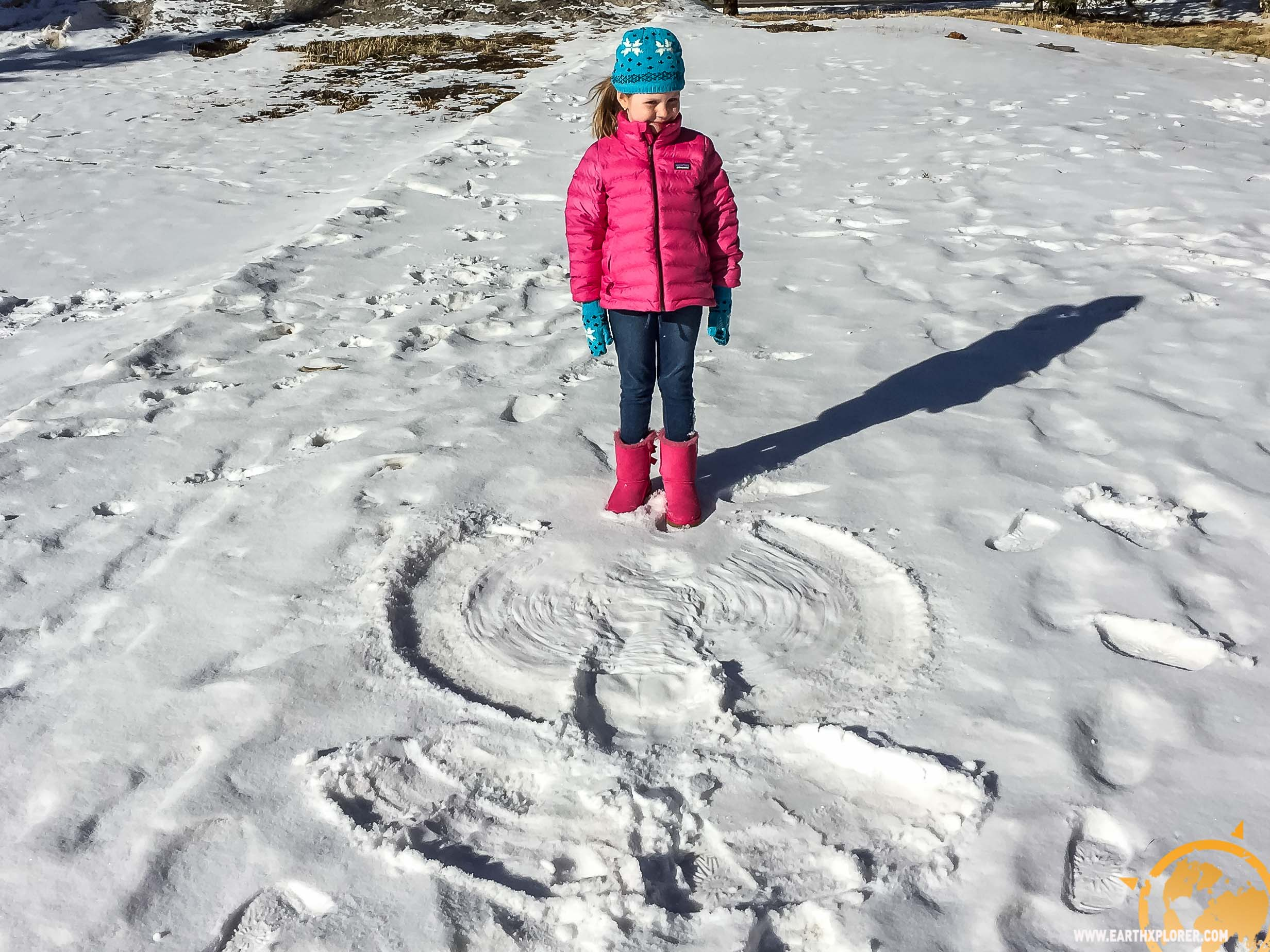 Her First Snow Angel