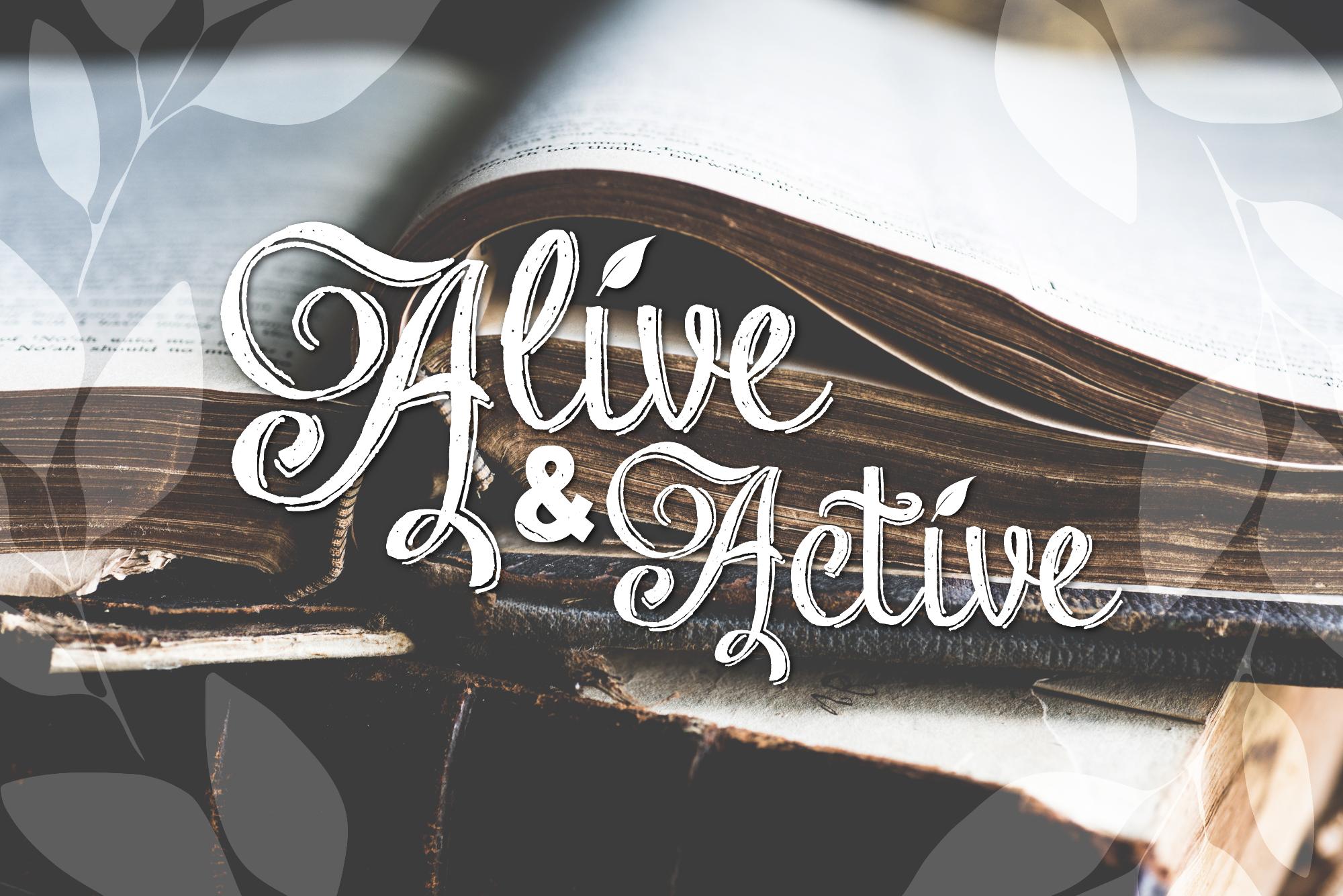 Alive & Active Sermon Series — Cross Church