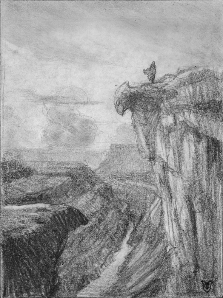 The Canyon -Sketch
