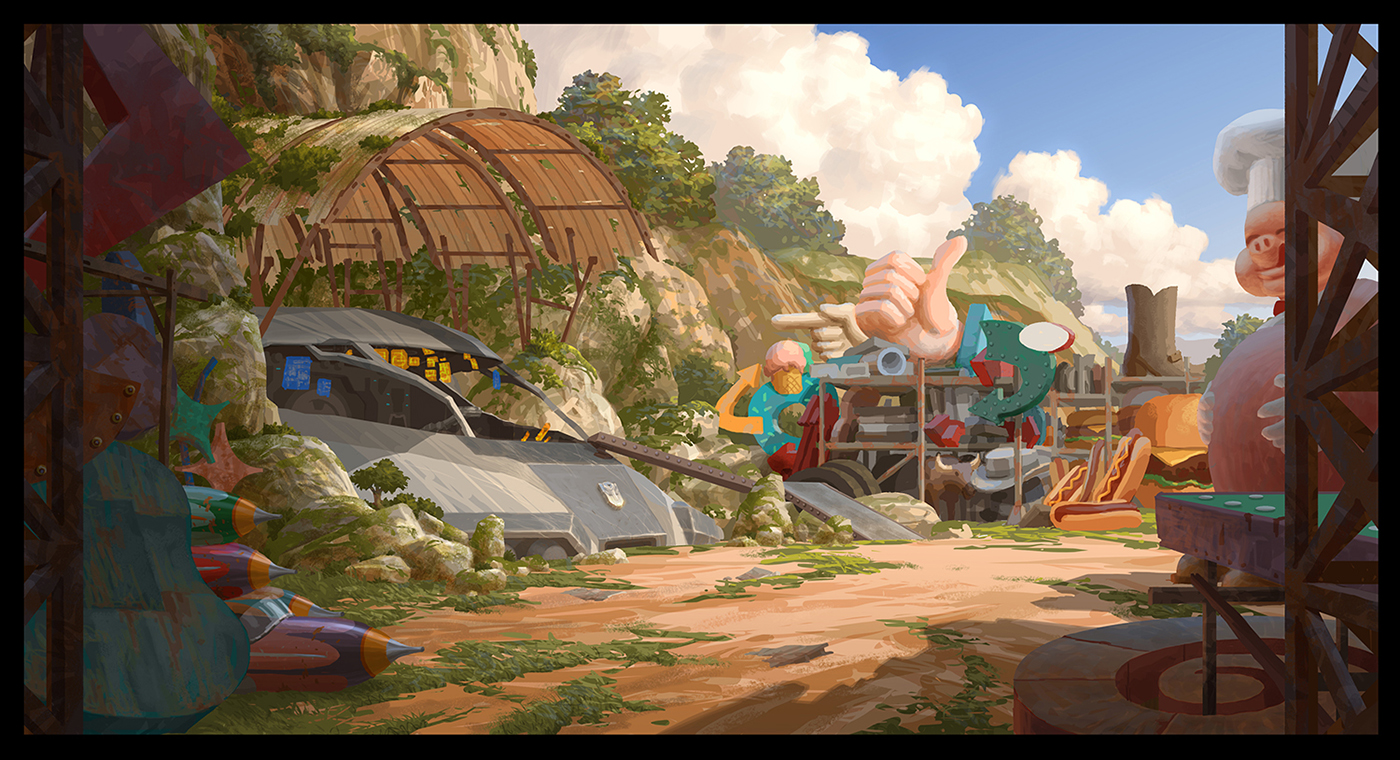 Painted on a BG design by Vince Toyama
