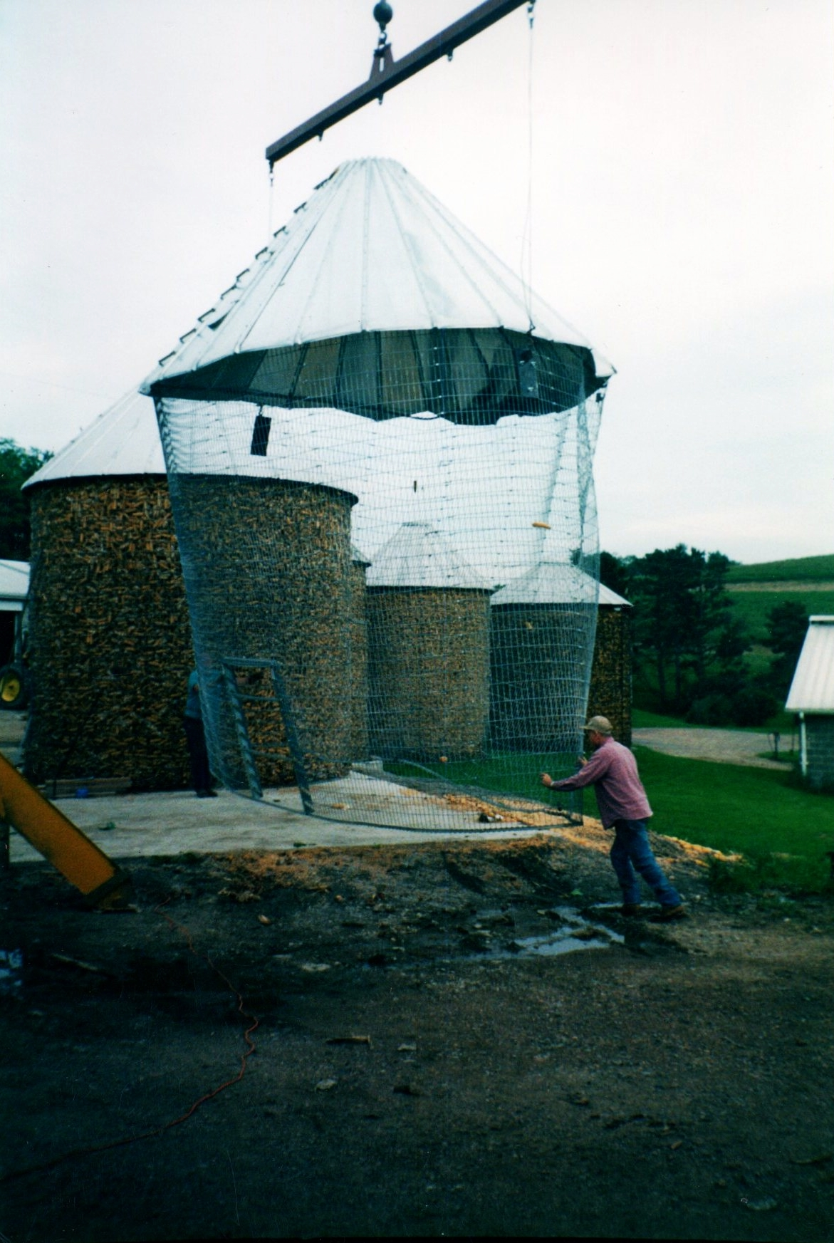 Wire Corn Silo Job