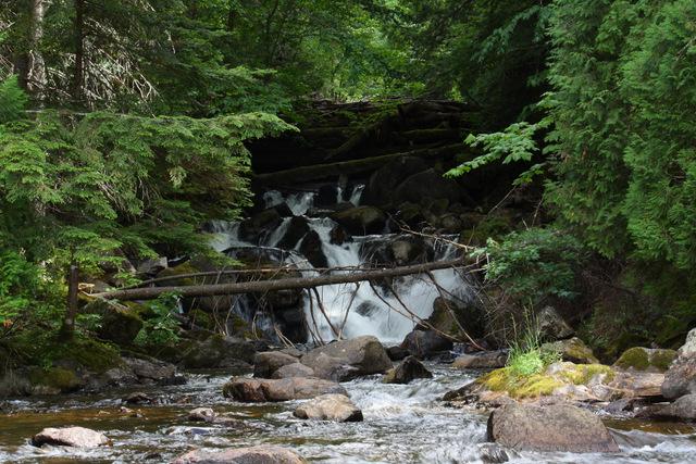 Waterfall entering Laurel Lake