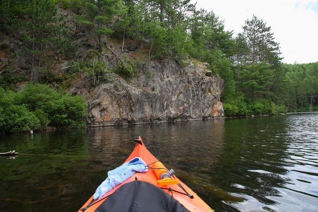 Rock face on Laurel Lake