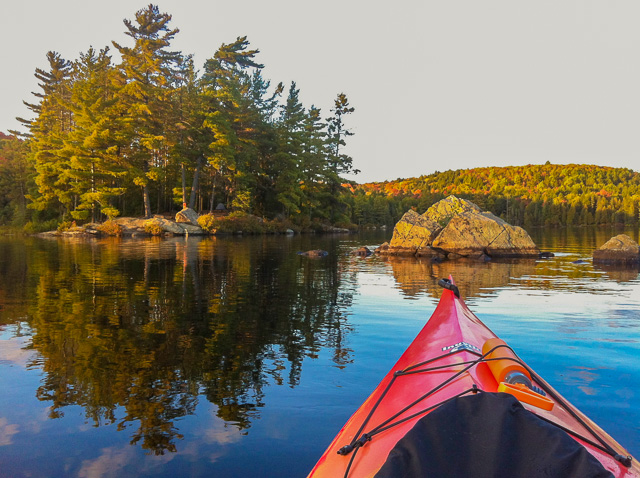 My Sunday Lake island campsite