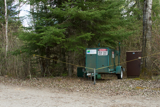 Bear Trap, Sandbar Lake Provincial Park, Ontario, Canon 7D with Canon EF 28-300mm @ 28mm, 1/400s @ f/8, ISO 1600