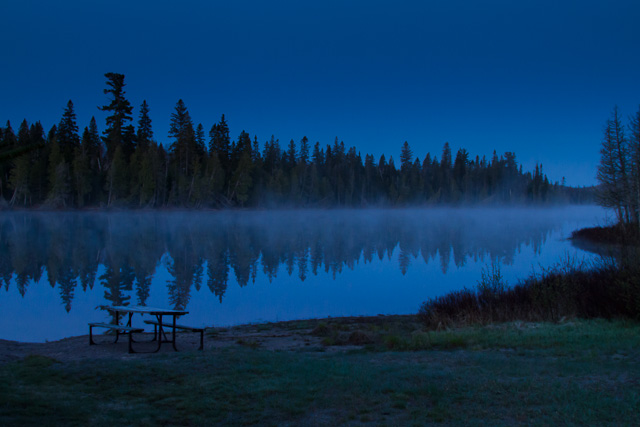 Rabbit Blanket Lake, Lake Superior Provincial Park , Ontario, Canon 7D with Canon EF 28-300mm @ 28mm, 1/13s @ f/8, ISO 1600